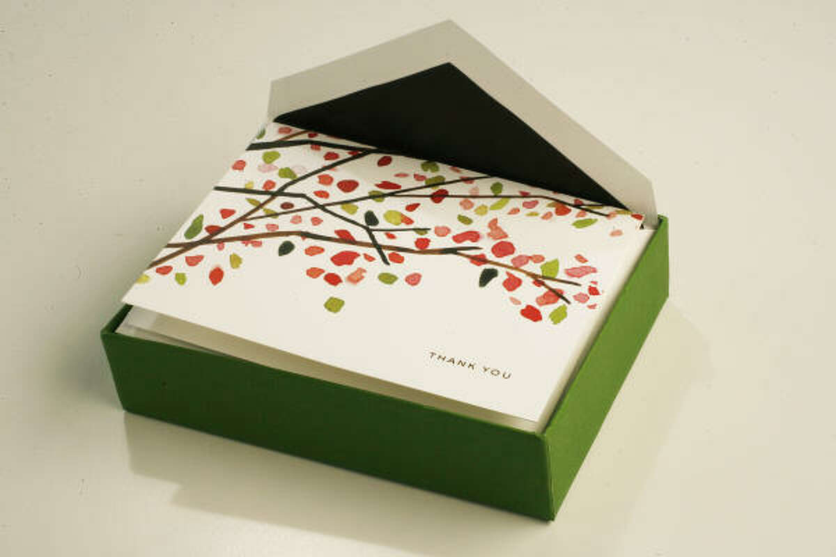 "Kate Spade ""Cherry Blossom"" cards, $25 for 10, Katie & Co."