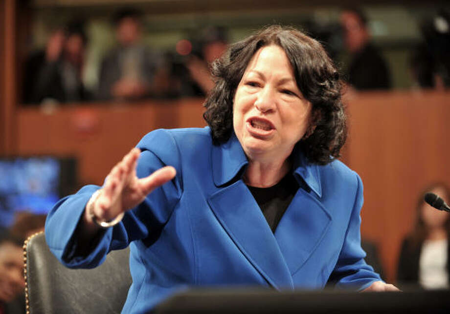 Supreme Court Justice Sonia Sotomayor Photo: NICHOLAS KAMM, AFP/Getty Images