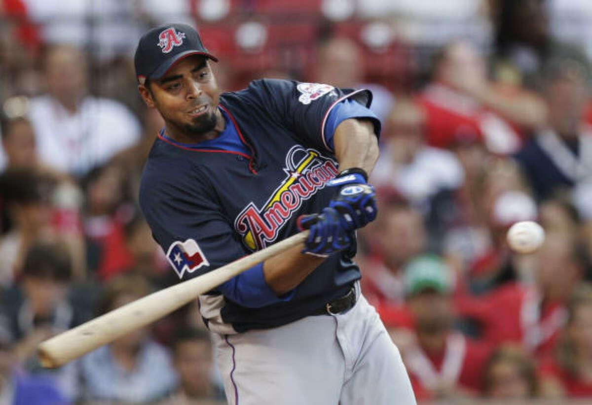 Round 1 Rangers right fielder Nelson Cruz: 11 HR