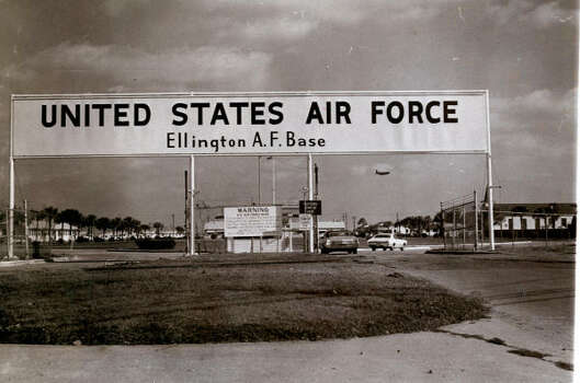 In 1970, Ellington Airport was called Ellington Air Force Base. Then, as now, it was used by NASA for transporting personnel and equipment and for training astronauts. Photo: Chester Rogers, Chronicle