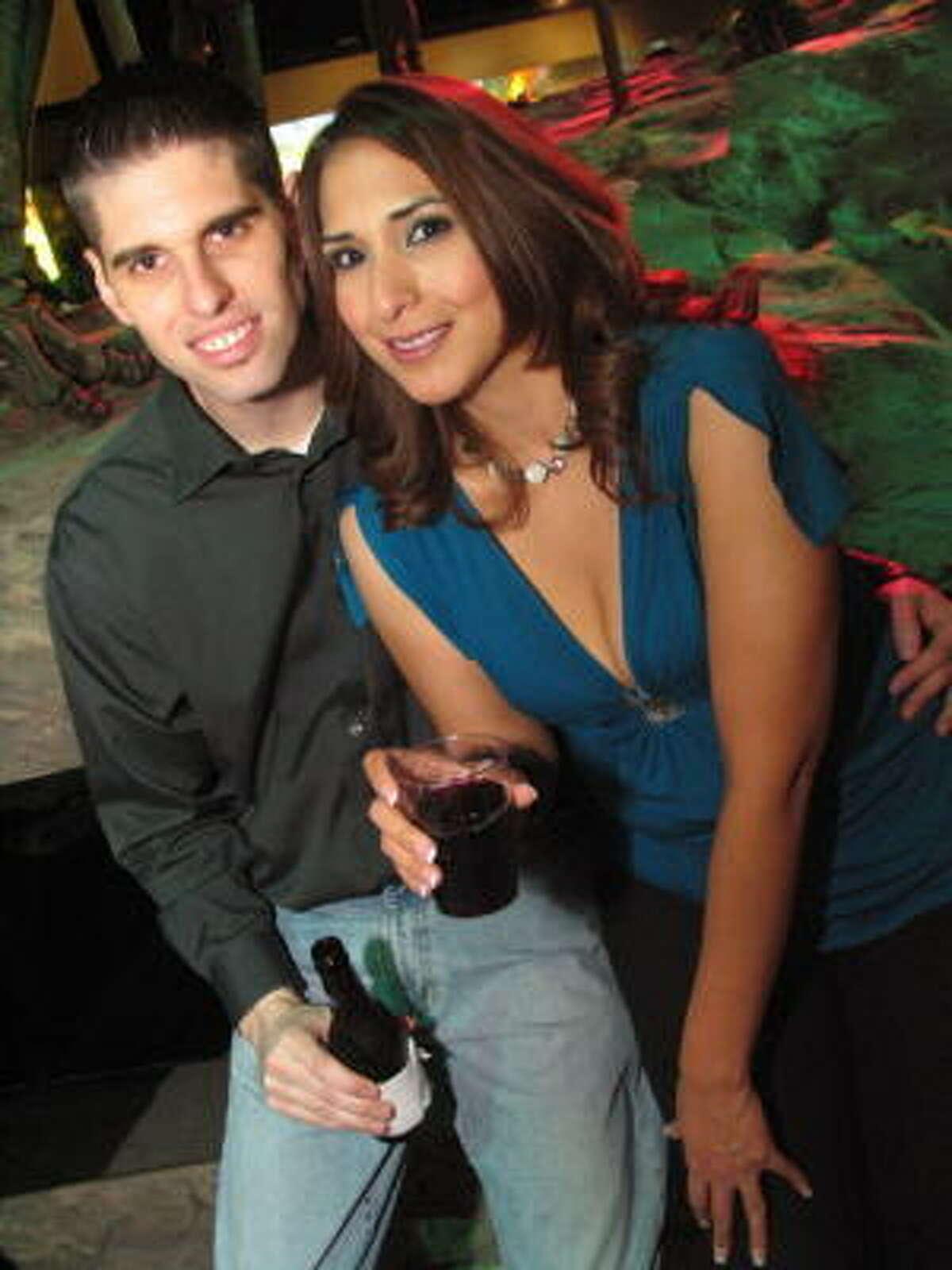 Chris Risinger, left, and Alicia Garcia