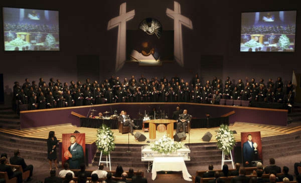 A memorial service for Steve McNair is held at Mount Zion Baptist Church in Nashville, Tenn.