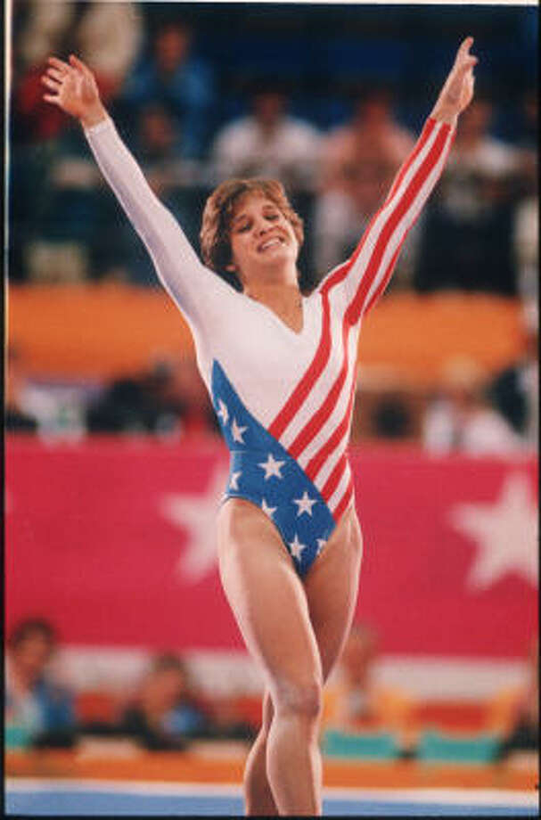 Two years after moving to Houston to train with Bela and Martha Karolyi, Mary Lou Retton became the first U.S. woman to win the Olympic women's all-around gold medal in 1984. Also won two Olympic silver and two bronze medals. Retired after winning third consecutive American Cup in 1985.