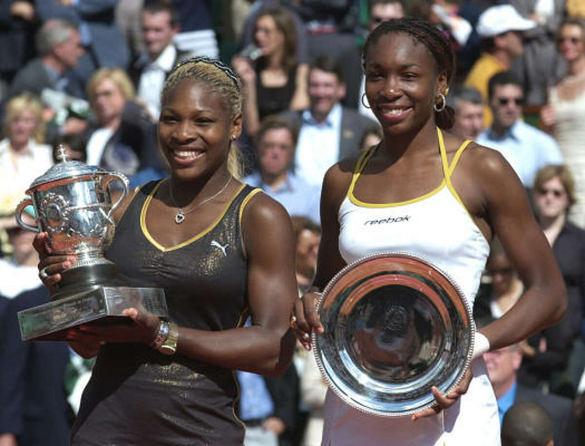 French Open - June 8, 2002: This time, it was Serena with the bigger smile, and hardware. She defeated Venus 7-5, 6-3. Advantage: Venus, 2-1.