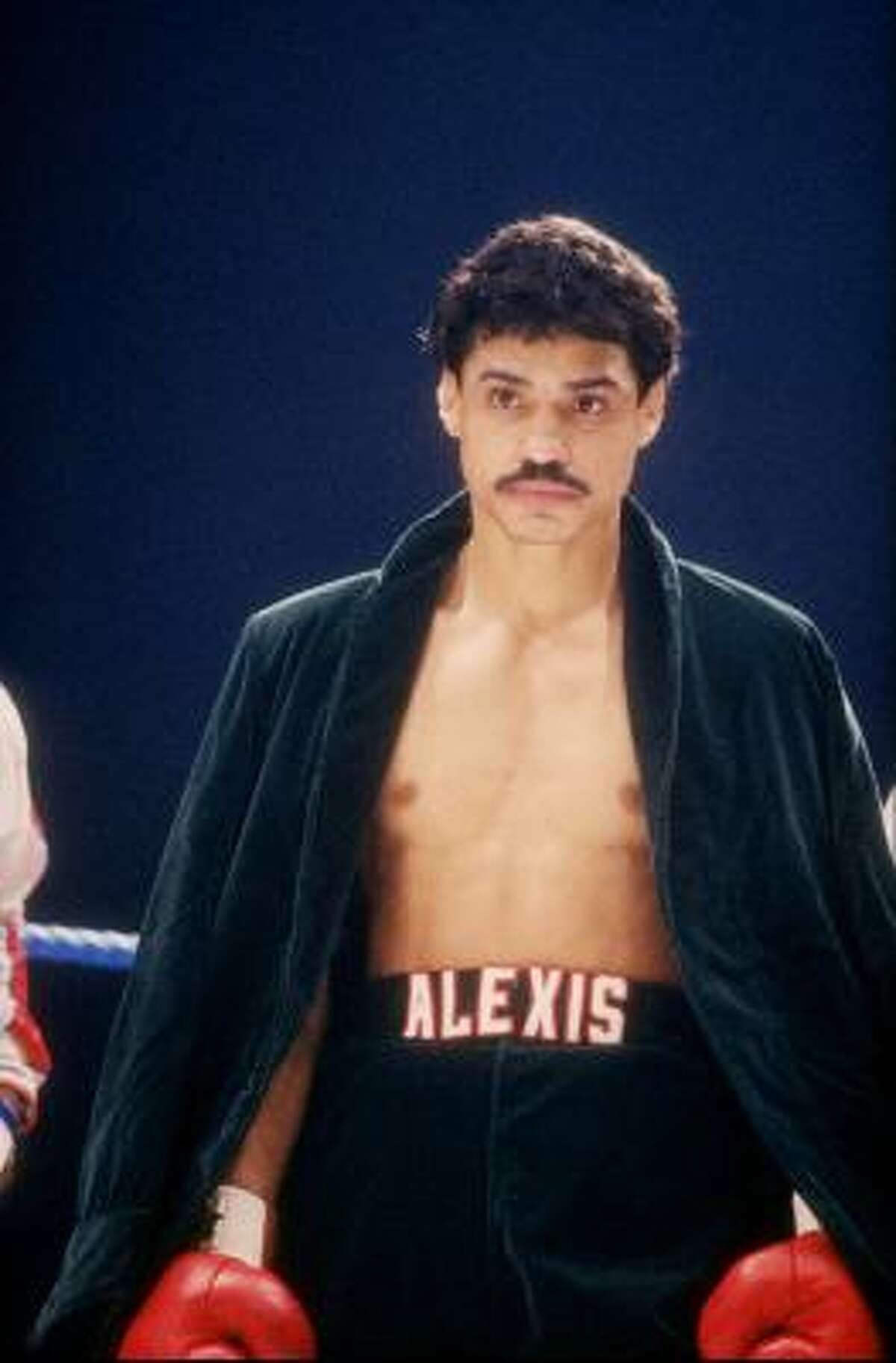Alexis Argüello, circa 1985. He turned pro in 1968 and won his first world title by knocking out Ruben Olivares for the featherweight crown in 1974 and retired in 1995 with a record of 82-8 with 65 knockouts.