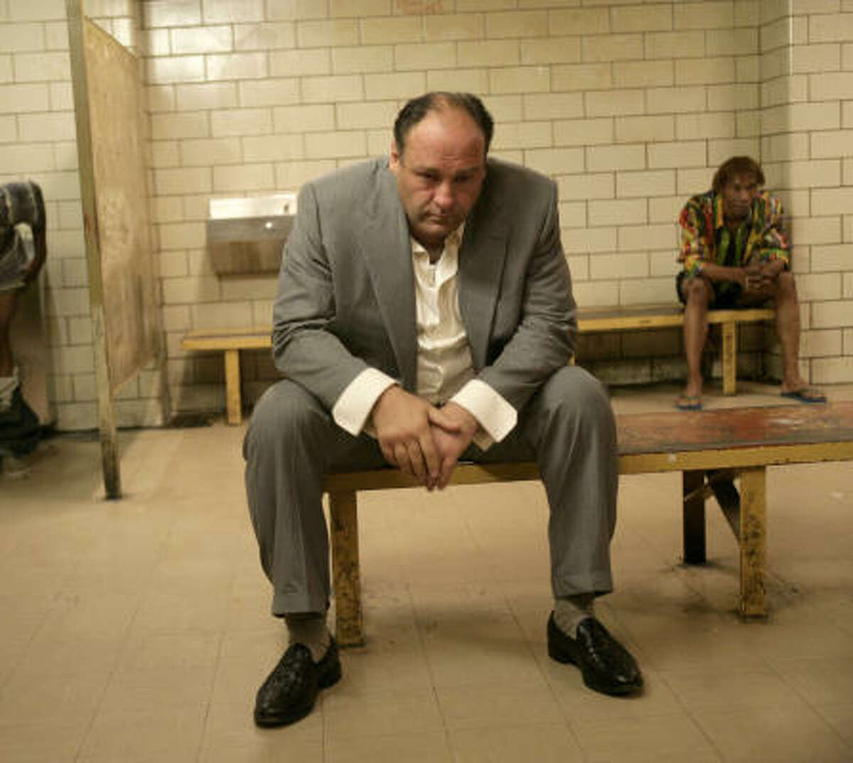 """Tony Soprano (James Gandolfini, The Sopranos): The best TV mobster ever. Like Vito Corleone, a multi-layered family man — but he's more flawed and real. Bonus points: There's a classic Easter egg in the bonus disc of the original """"Godfather"""" set in which Tony and the boys try to watch a bootleg copy of the 1972 movie."""