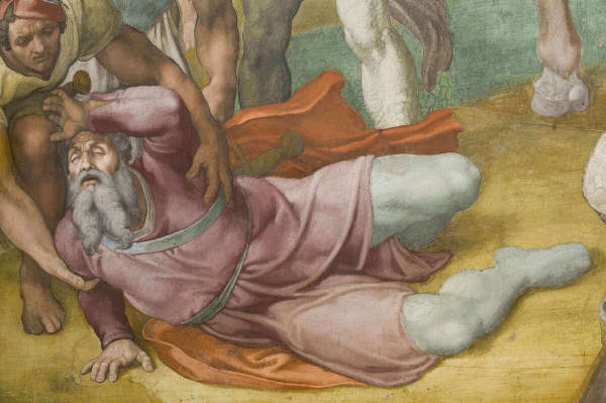 More detail of Michelangelo's Conversion of St. Paul.