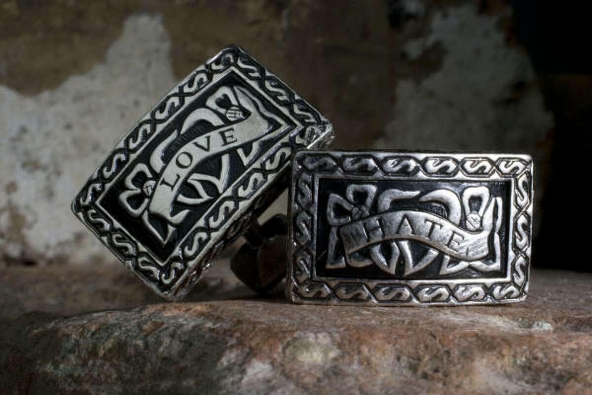 John Hardy Love-Hate cufflinks, $195, Neiman Marcus