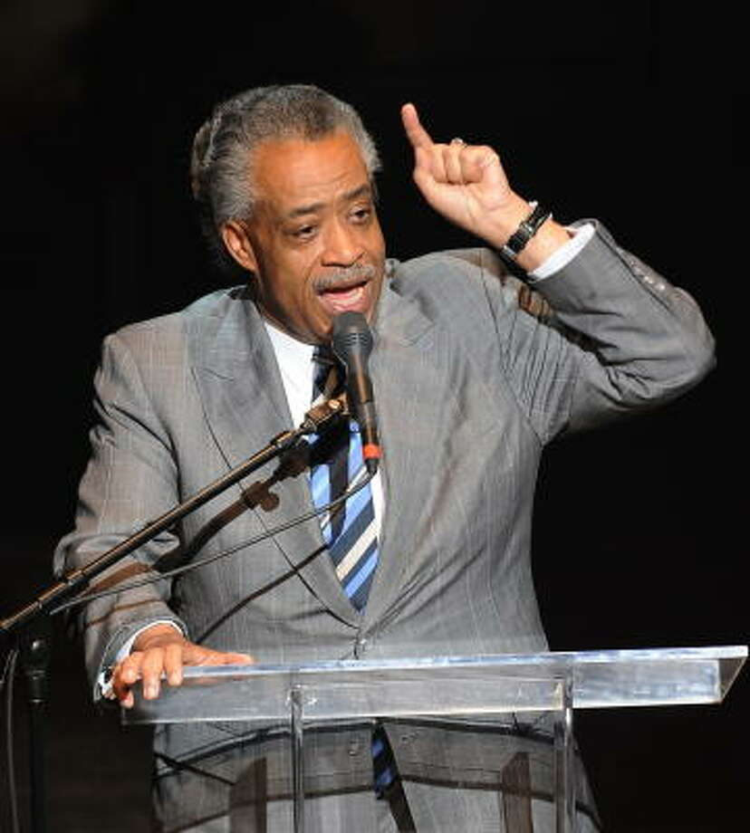 The Rev. Al Sharpton opened the memorial with a eulogy for Michael Jackson at the Apollo Theater. Photo: STAN HONDA, AFP/Getty Images
