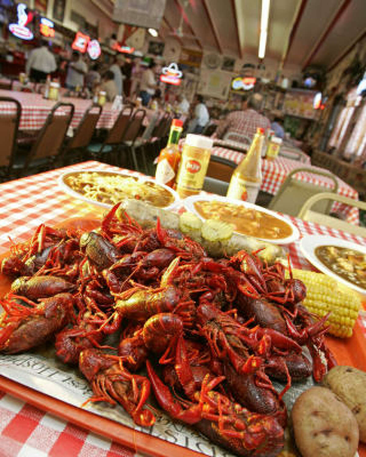 What kid doesn't like to play with his food? And Ragin Cajun is the best place for that. 4302 Richmond and 9600 Westheimer. Vote for the Ultimate restaurant your kid will love here.