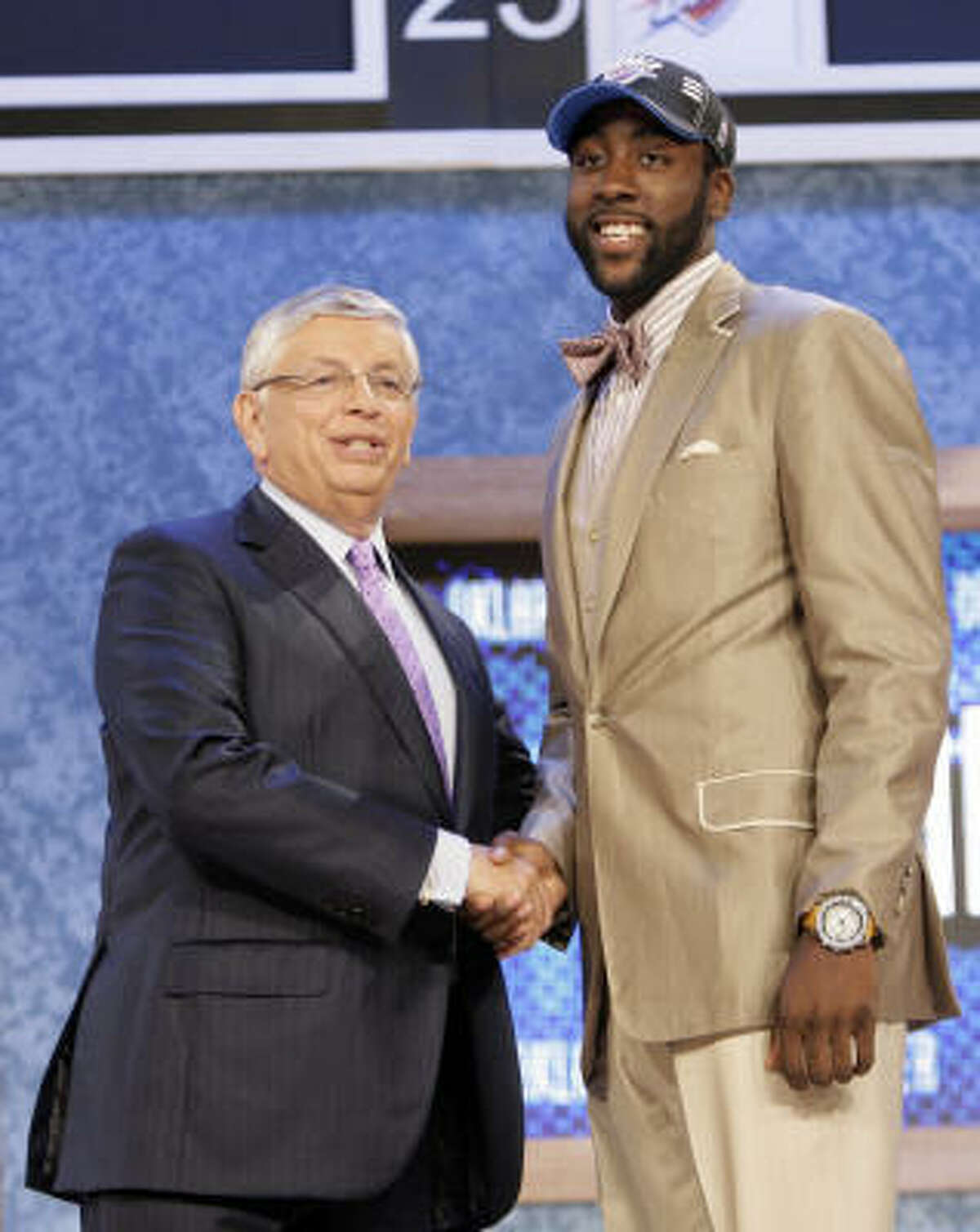 3. Oklahoma City Thunder Oklahoma City Thunder select James Harden, a guard from Arizona State.