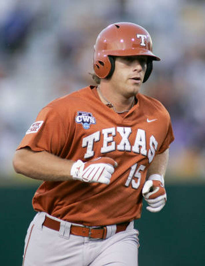Texas' Russell Moldenhauer rounds the bases after hitting a home run against LSU in the third inning. Photo: Eric Francis, AP