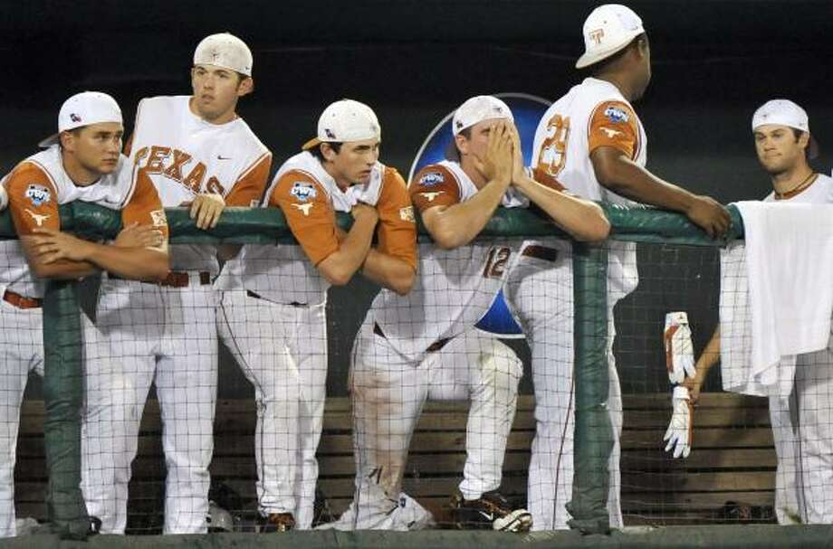 Game 1: LSU 7, Texas 6 Texas lost Game 1 and faces elimination in Tuesday's Game 2. Photo: Ted Kirk, AP