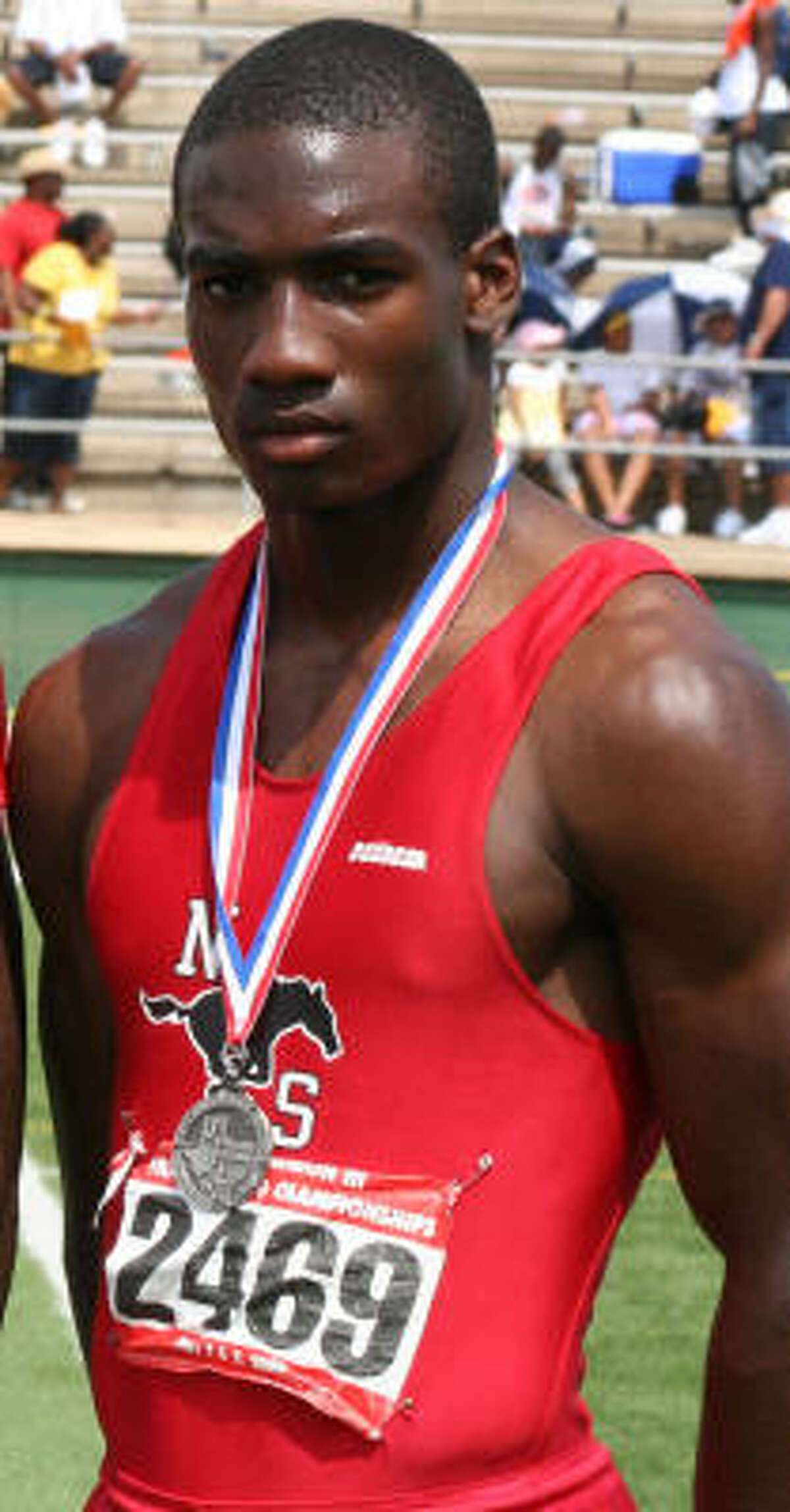 DeAndrew White made a name for himself on the track by picking up four medals at the Class 5A Region III meet and three medals at the state meet.