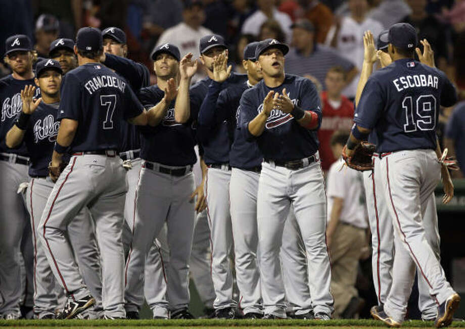 Atlanta Braves:Why the hate? The Astros made the playoffs six times between 1997 and 2005 and played the Braves in five of them. Photo: Elise Amendola, AP