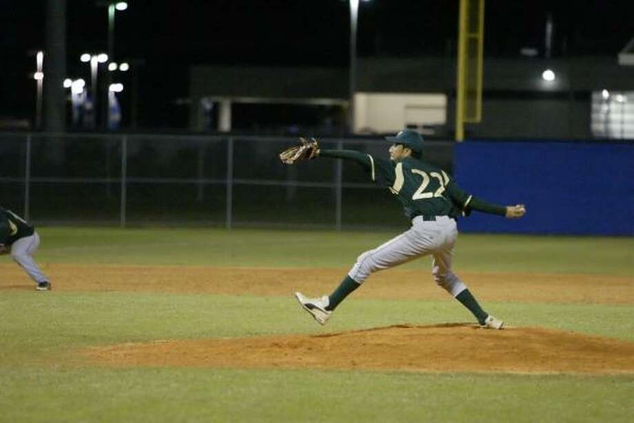 Klein Forest's Mark Esparza is off to a solid start to  baseball season. Photo: Matthew White, For The Chronicle