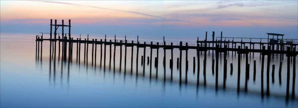The Kemah Pier at sunset.