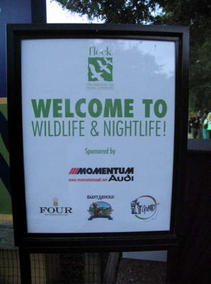 The Houston Zoo hosted an event and opened the grounds for the evening. Photo: Jordan Graber, For The Chronicle