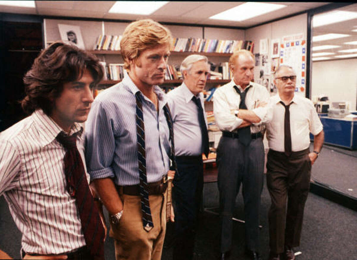All the President's Men by Bob Woodward and Carl Bernstein is the story of two reporters and one of America's greatest scandals, Watergate. The 1976 movie by Alan J. Paluka is one of the best newspaper movies ever.