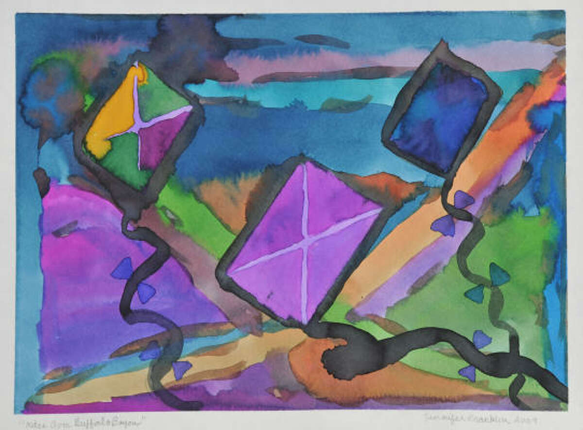 A watercolor by Jennifer Franklin.