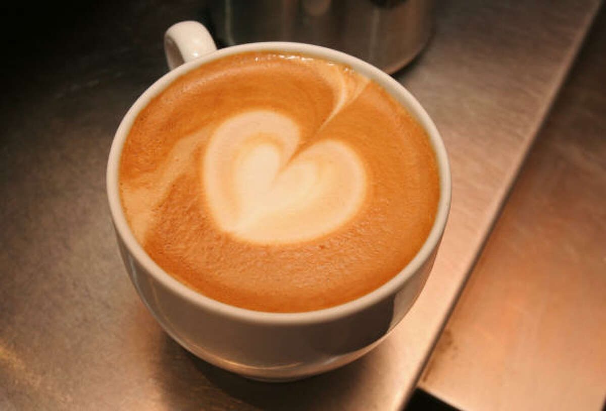 A cappucino or latte is a must at Catalina Coffee, 2201 Washington.