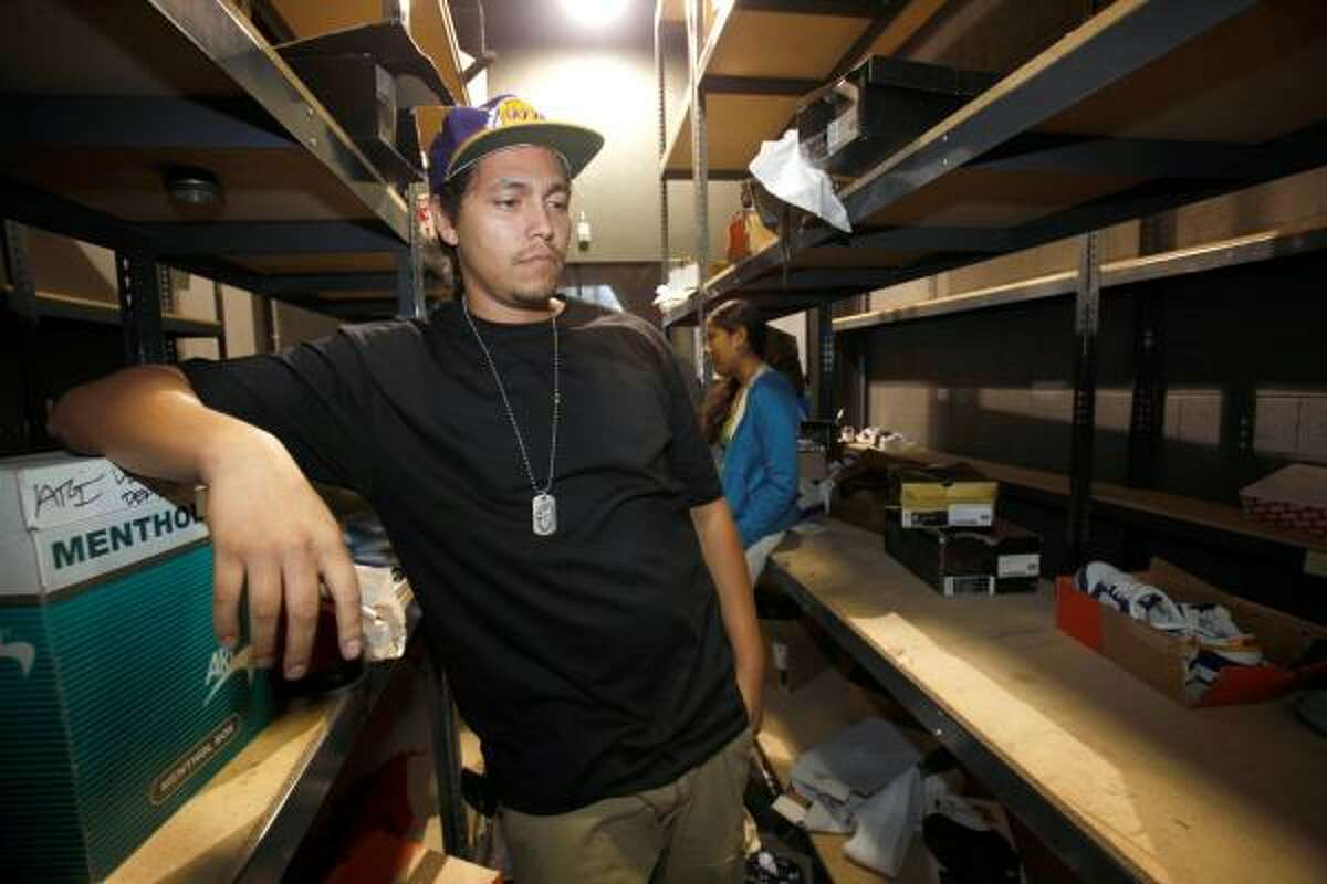 Richard Torres, owner of The Holy Grail shoe store in downtown Los Angeles, said he was looted during the Sunday night celebrations of the Lakers' NBA championship victory.