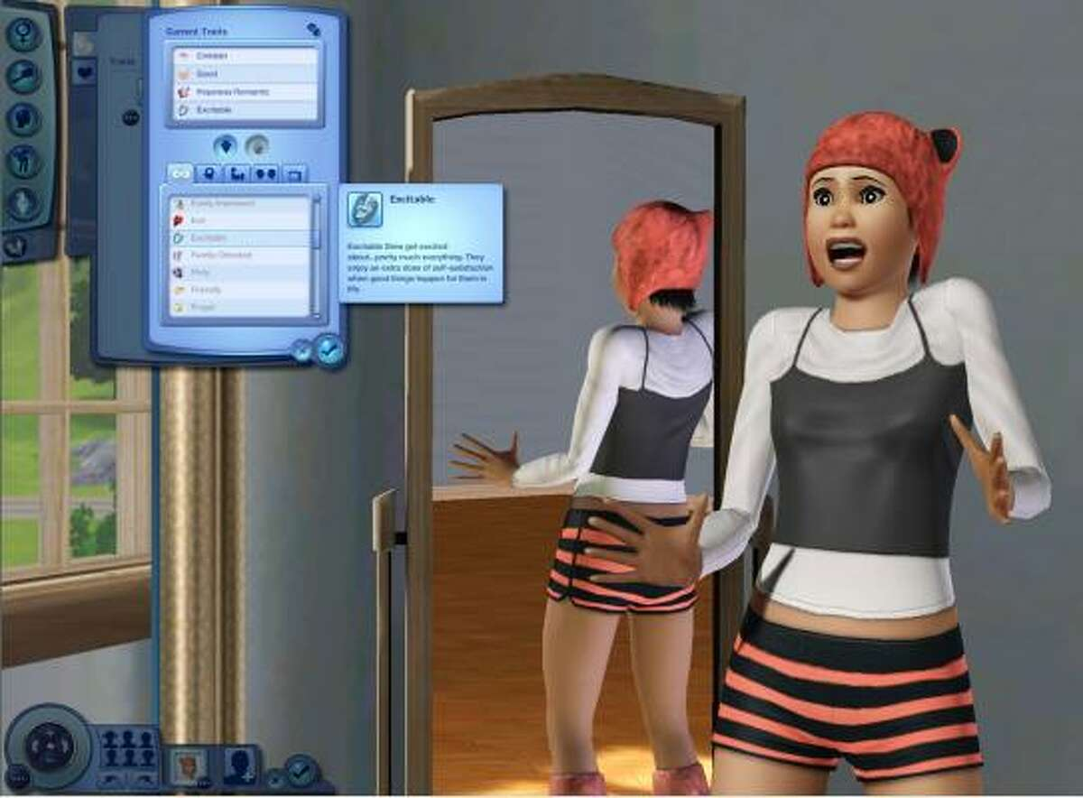 What's really going on here?: A scene from the just-released video/computer game The Sims 3.