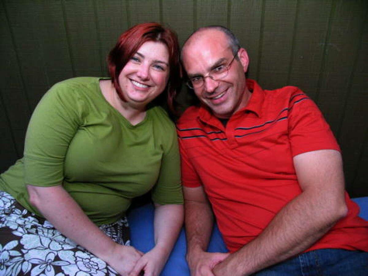 Jennifer Mathis, left, and Robert Georgi
