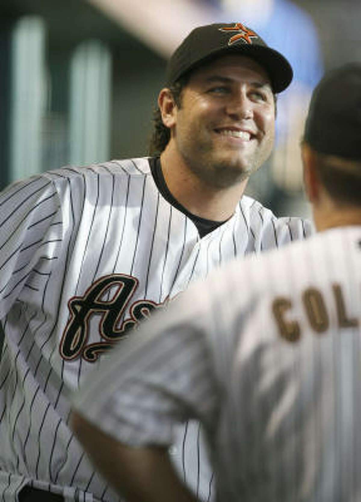 Houston's Lance Berkman walked in the ninth to load the bases for Jeff Blum's RBI walk-off single.
