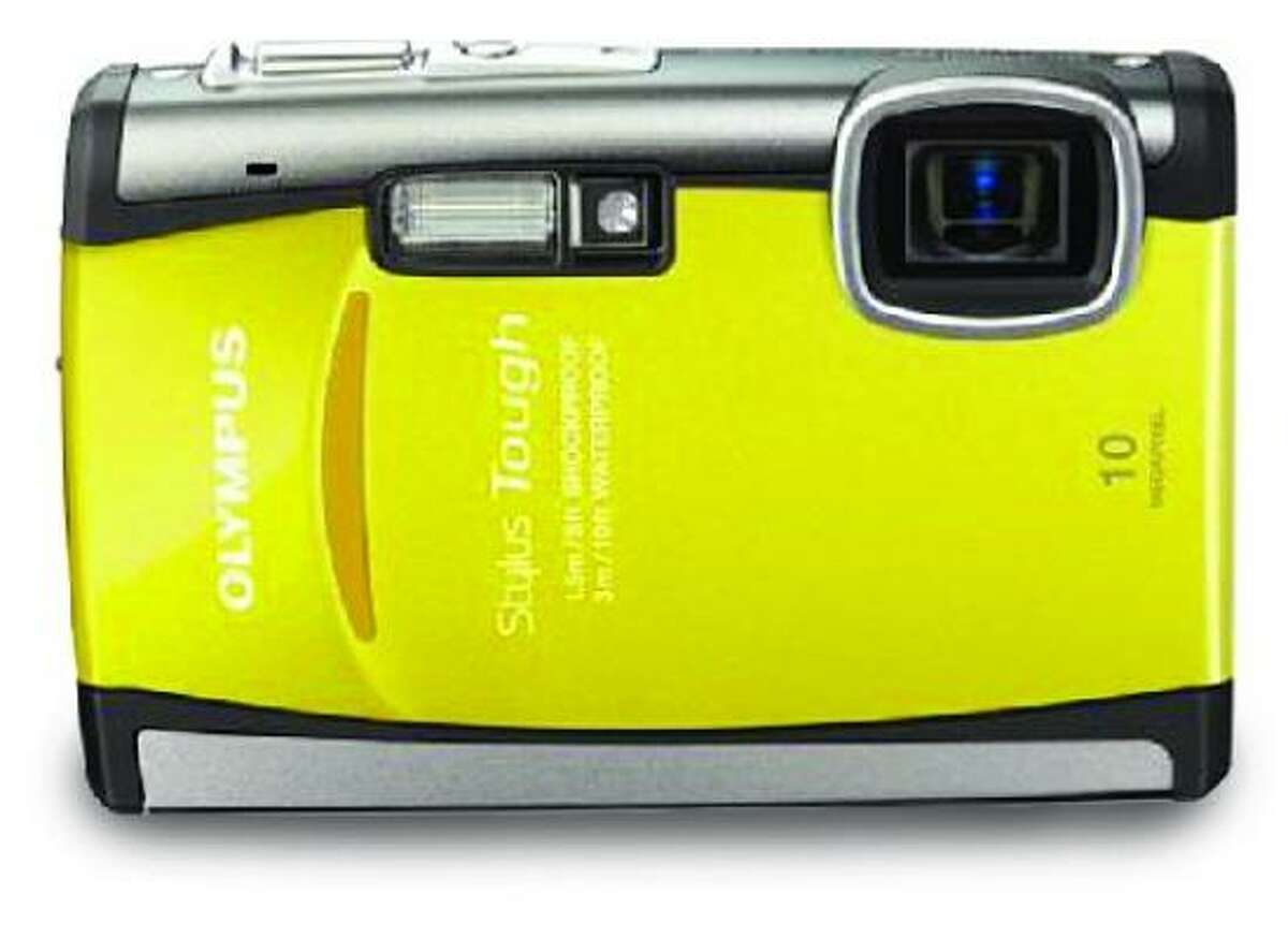 Stylus Tough-6000 Camera: A shockproof, waterproof, freezeproof and shakeproof point-and-shoot camera that the maker claims takes pictures with a tap of your finger almost anywhere on the camera. Other details: 10 megapixels; 3X optical zoom; 2.5-inch LCD screen. $300, available at most large electronics stores as well as www.OlympusAmerica.com.