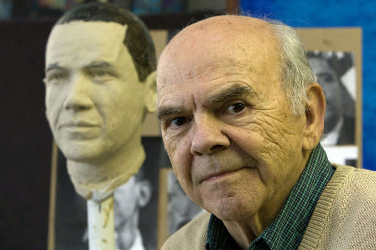 David Adickes, known for creating giant statues of U.S. presidents and other historic figures, began working on the bust the day after Obama won the election.