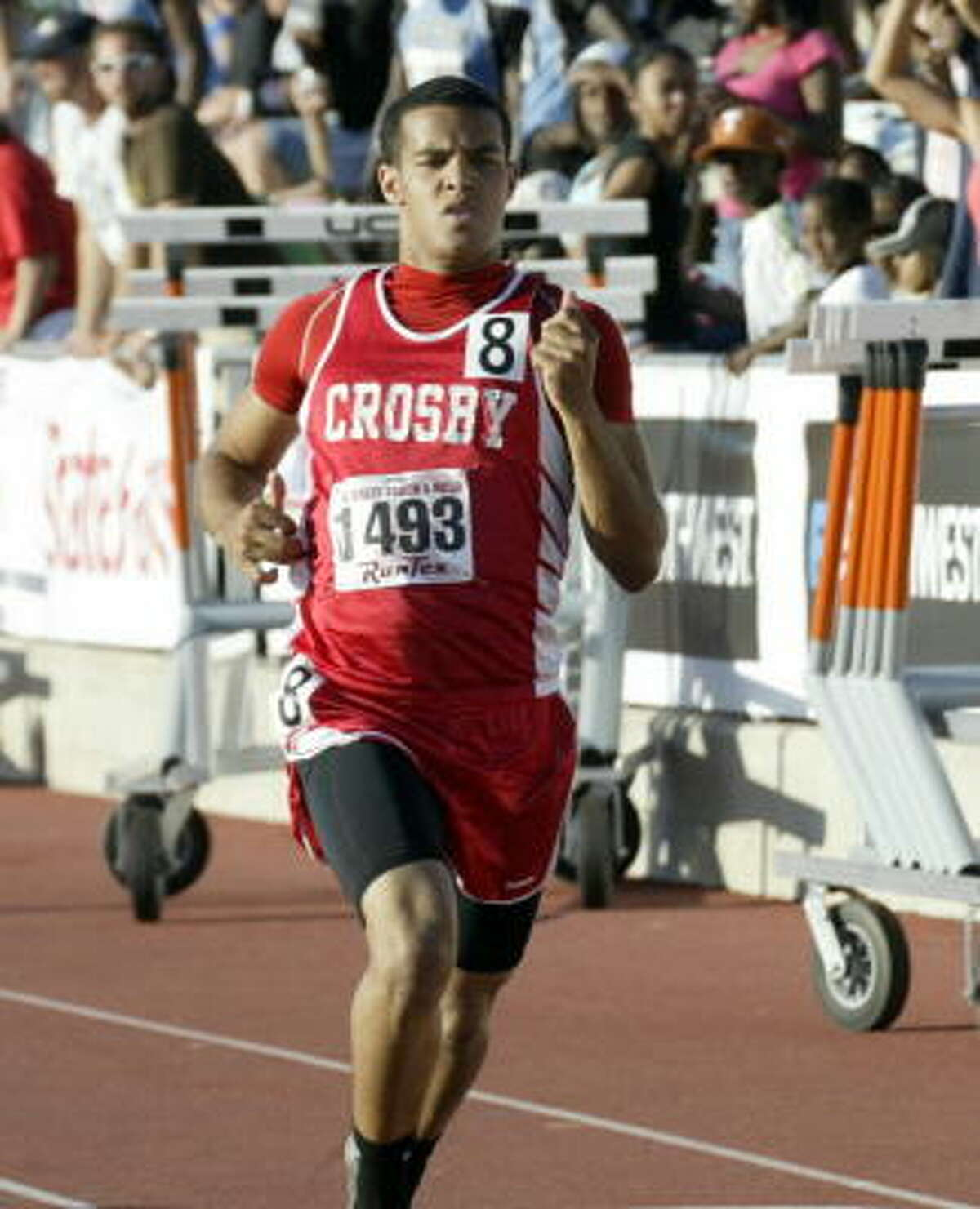 Crosby's Chance Casey took gold in the 300- meter hurdles in 37.09 seconds.