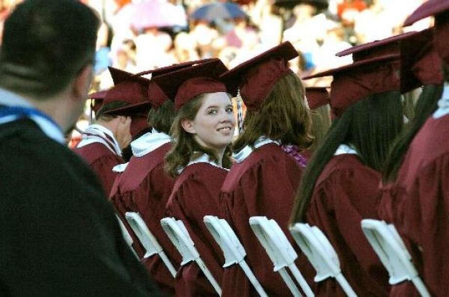 This year 984 students graduated from Clear Creek High School, the largest high school in the Clear Creek Independent School District. Photo: Kirk Sides, For The Chronicle