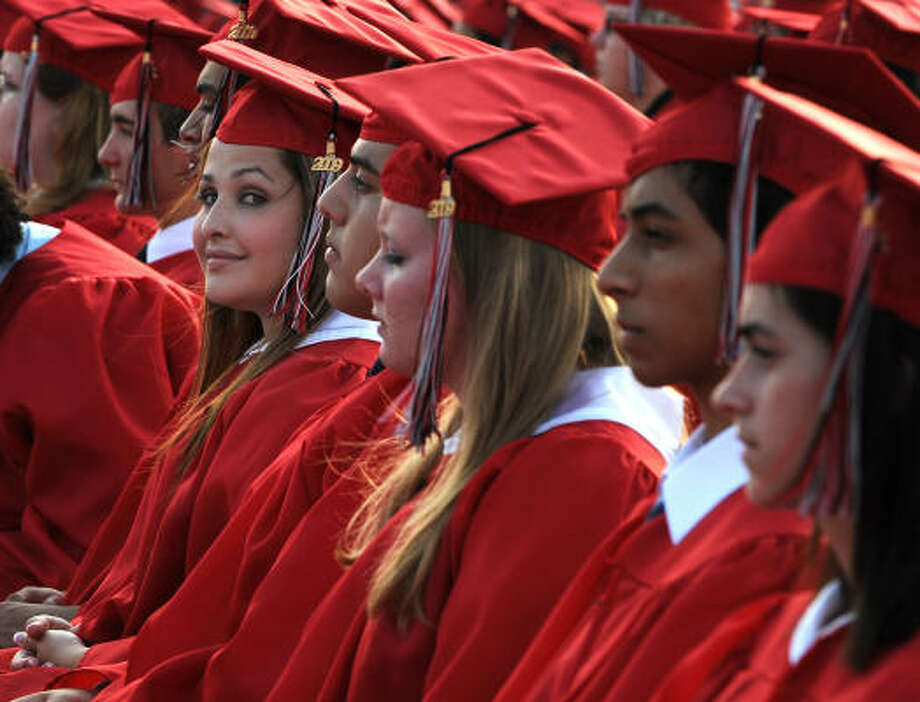 This year 613 students graduated from Clear Brook High School. After a lot of hard work. And a lot of fun, too. Photo: Kim Christensen, For The Chronicle