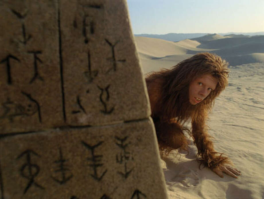 Primate Chaka (Jorma Taccone) comes out of hiding in Land of the Lost. Photo: Universal Pictures