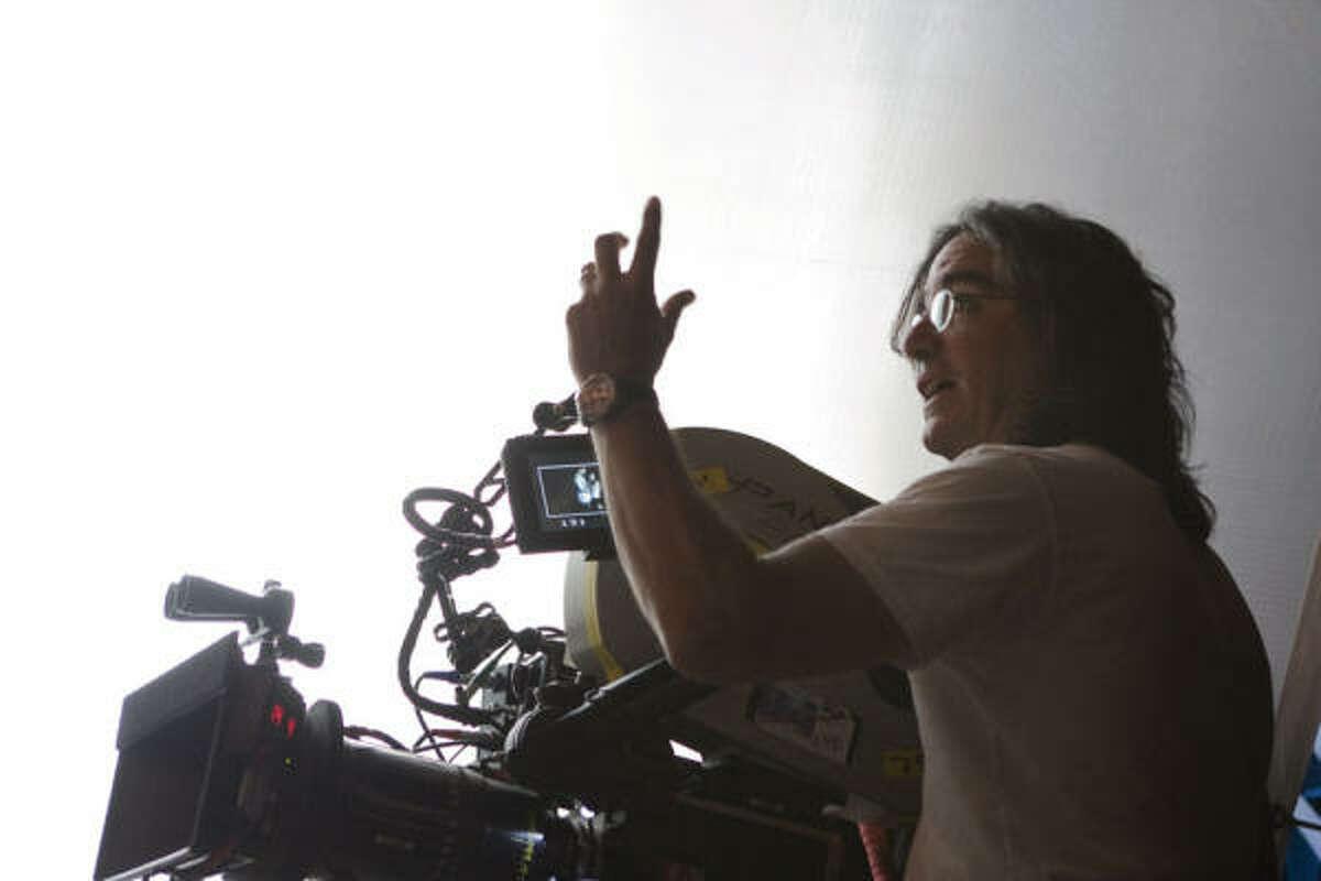 Director Brad Silberling on set.