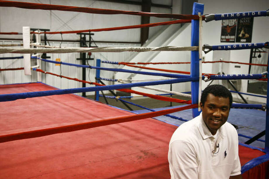 """George """"Monk"""" Foreman's professional boxing debut will be a four-round fight at Coushatta Resort in Kinder, La. Photo: Michael Paulsen, Chronicle"""