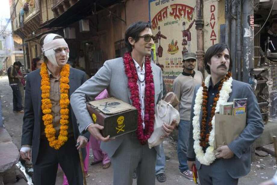 """An emotional comedy about three brothers re-forging family bonds. The eldest, played by Wilson, hopes to reconnect with his two younger siblings by taking them on a train trip across the vibrant and sensual landscape of India.""Rotten Tomatoes score: 69 percent Photo: James Hamilton, Twentieth Century Fox"
