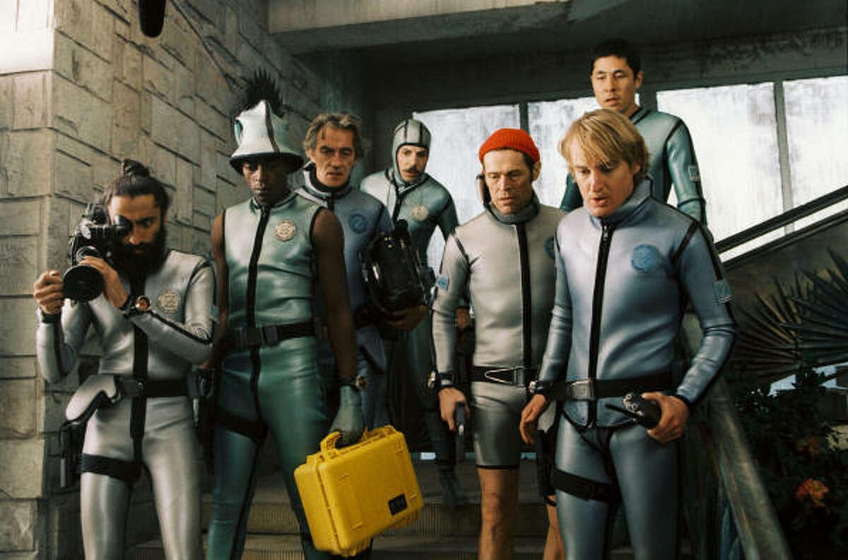 The Life Aquatic with Seven Zissou , starring Waris Ahluwalia, from left, Seu Jorge, Pawel Wdowczak, Noah Taylor, Willem Dafoe, Owen Wilson and Niels Koizumi.