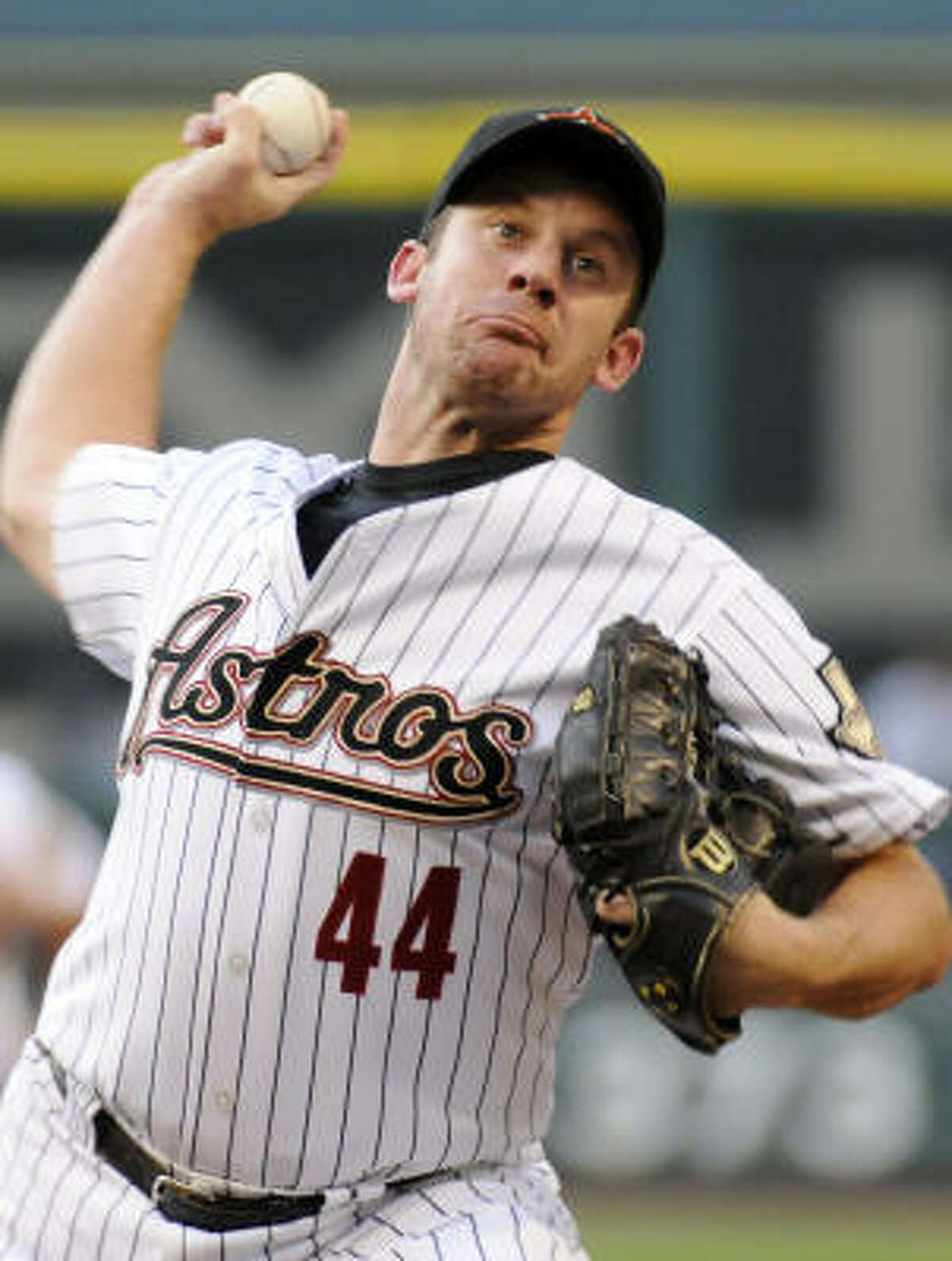 Roy Oswalt started for the Astros, going for his second win of the season.