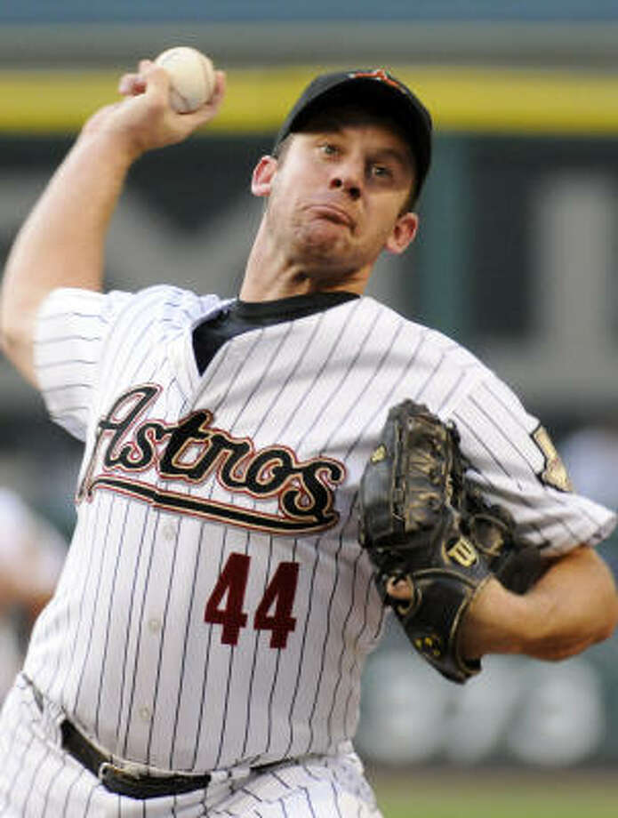 Roy Oswalt started for the Astros, going for his second win of the season. Photo: Pat Sullivan, AP