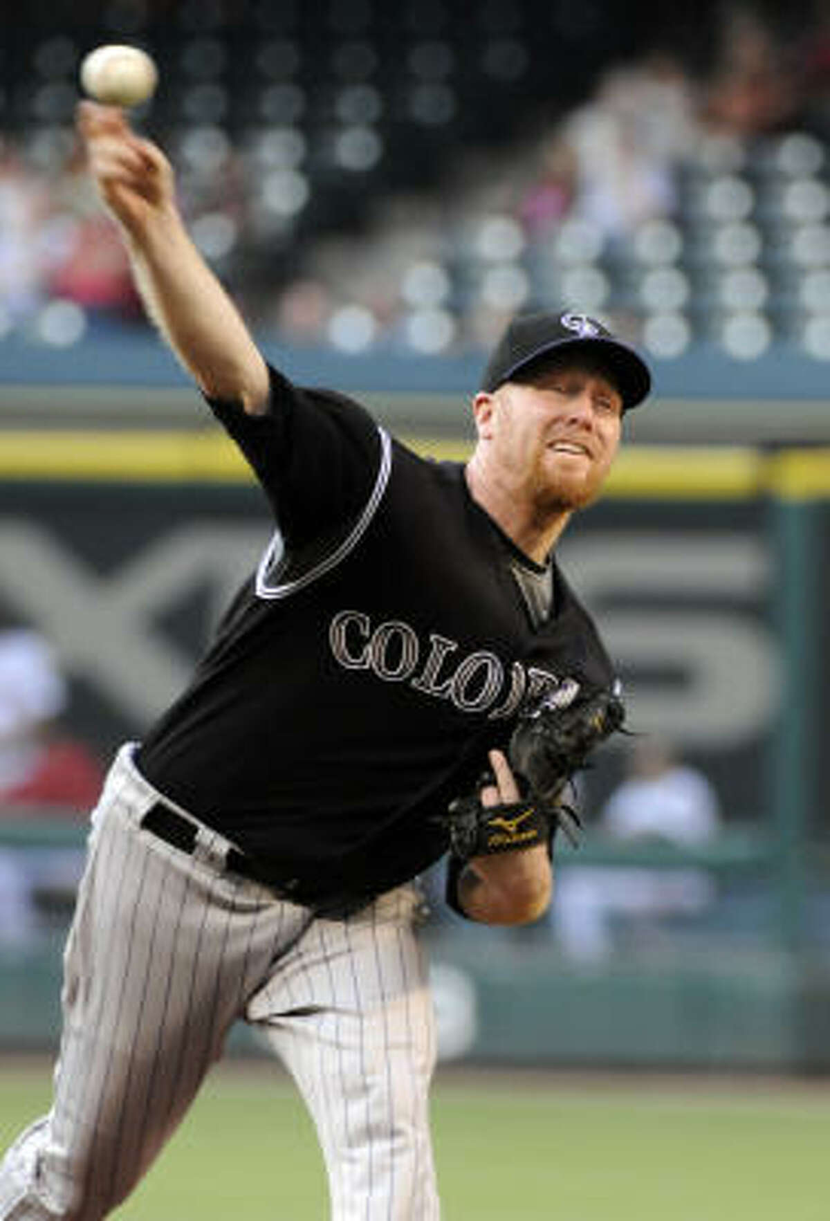 Aaron Cook started for the Colorado Rockies in the series opener.
