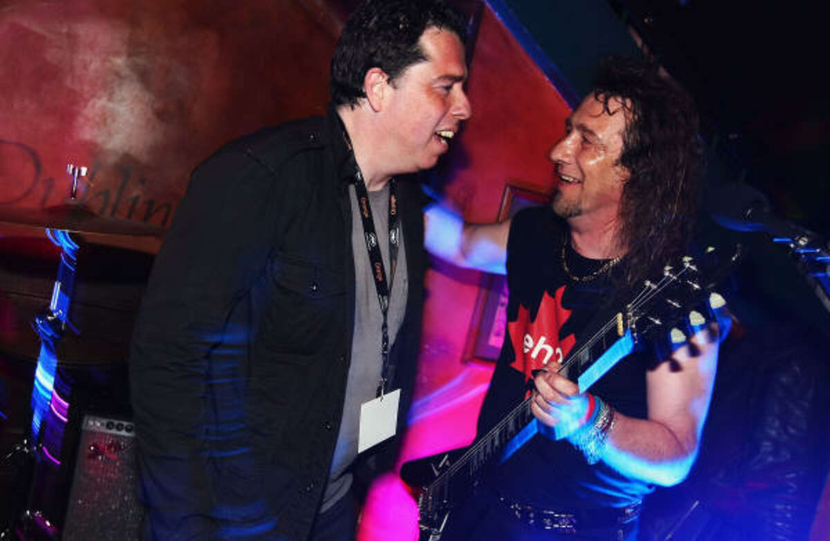 Director of the film Anvil! The Story of Anvil Sacha Gervasi and Steve