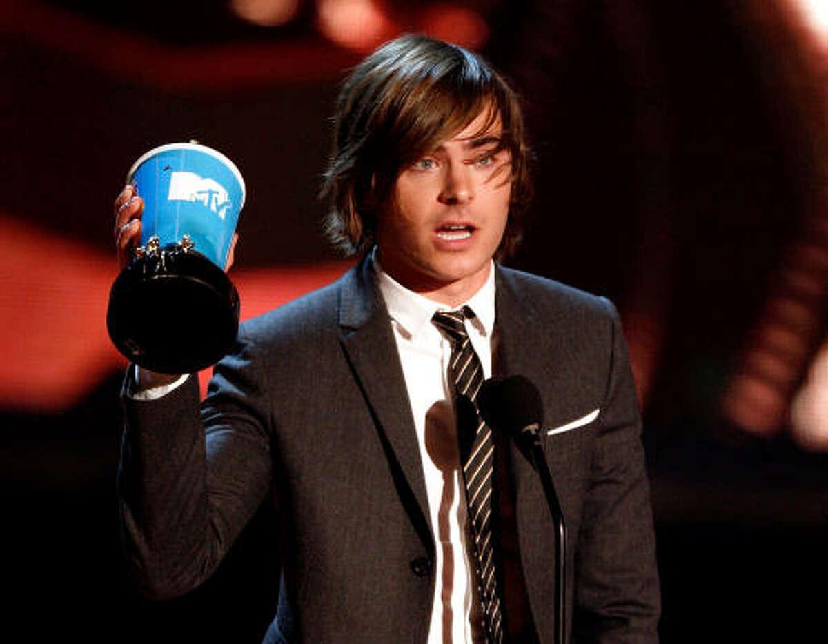 Zac Efron won the Best Male Performance award.