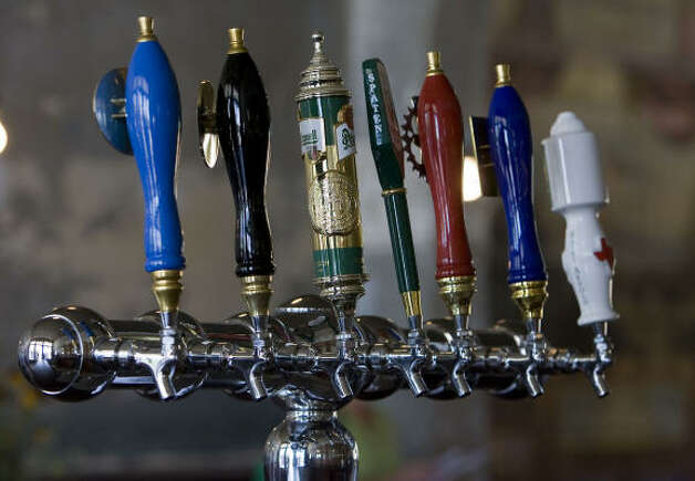 The new Sengelmann Hall will feature 14 beers on tap, including Texas favorites from the Shiner, Saint Arnold, Real Ale and Live Oak breweries. Photo: James Nielsen, Houston Chronicle