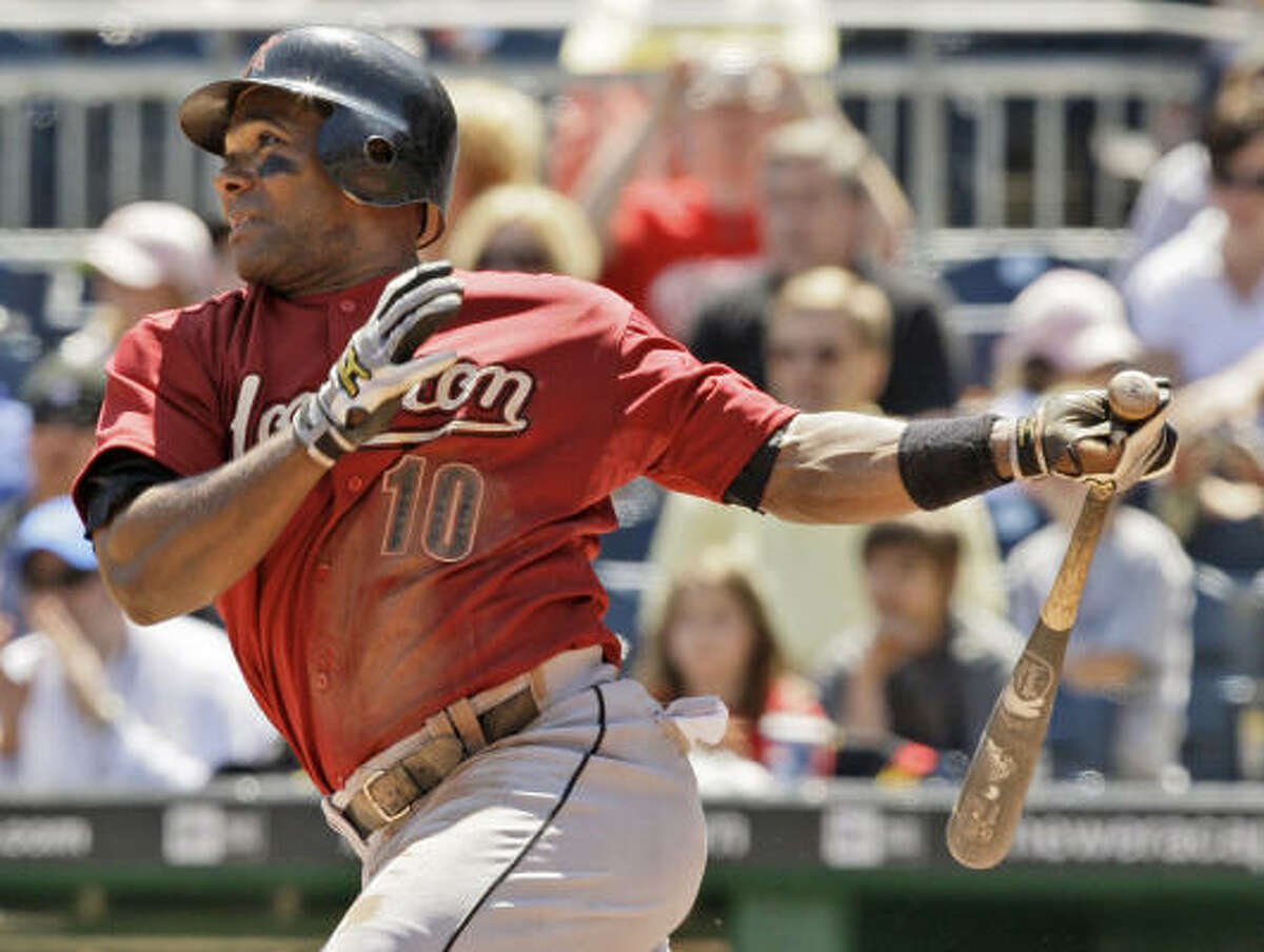 Miguel Tejada closed his strong month of May offensively with the game-winning single in the seventh inning.