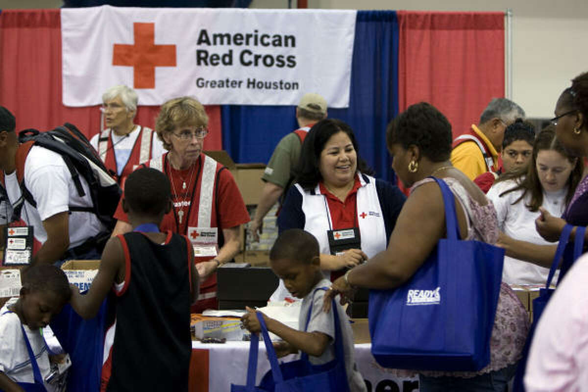The American Red Cross handed out batteries, weather radio's and other goods as well as information during the 2009 Hurricane Workshop. The event included information and products for the public on preparing for this year's hurricane season.