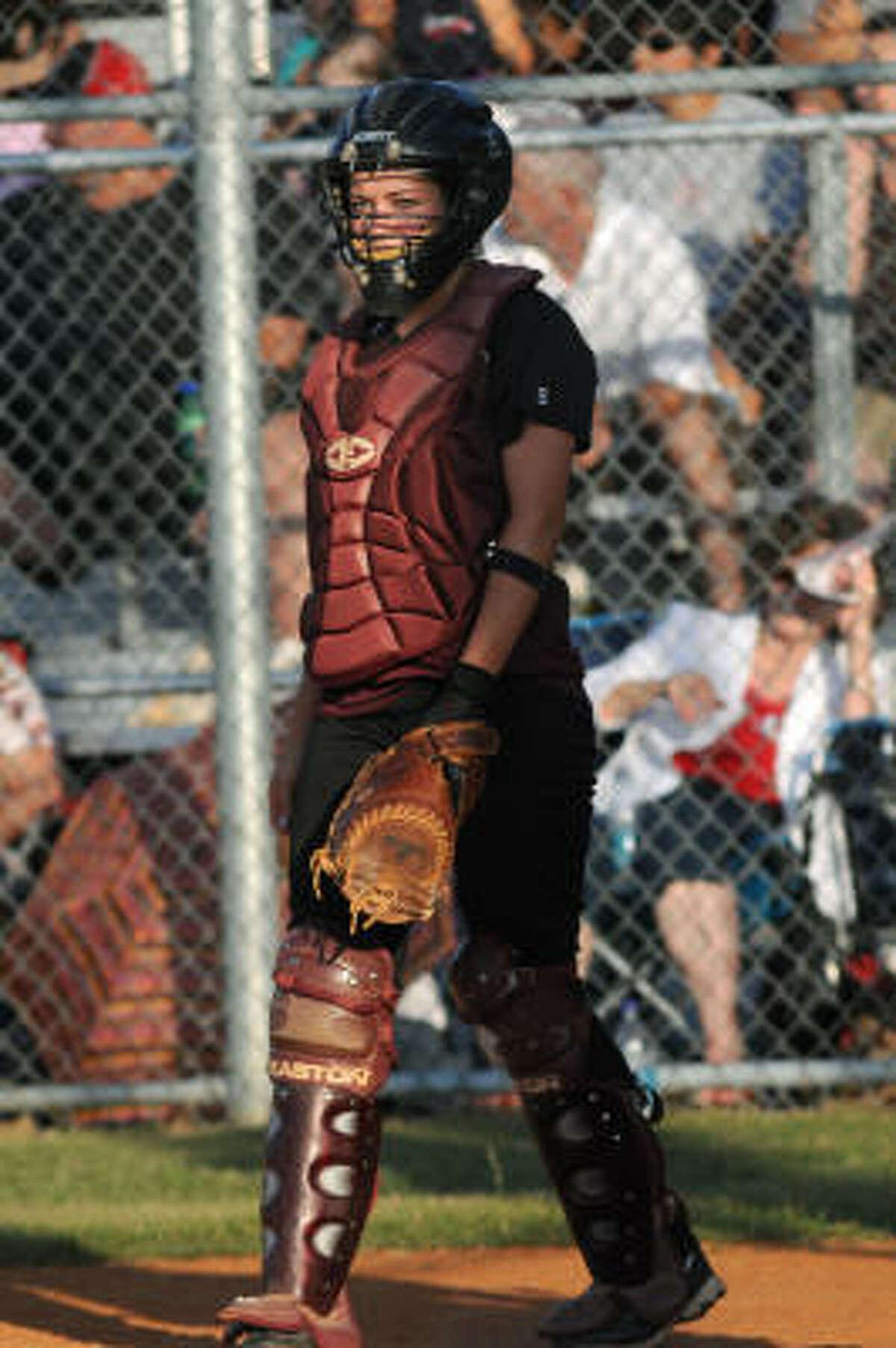 Magnolia junior catcher Ariel Hovis.