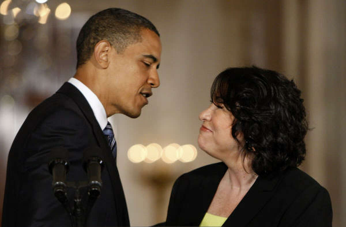 President Barack Obama introduces federal appeals court Judge Sonia Sotomayor, his pick for the Supreme Court.