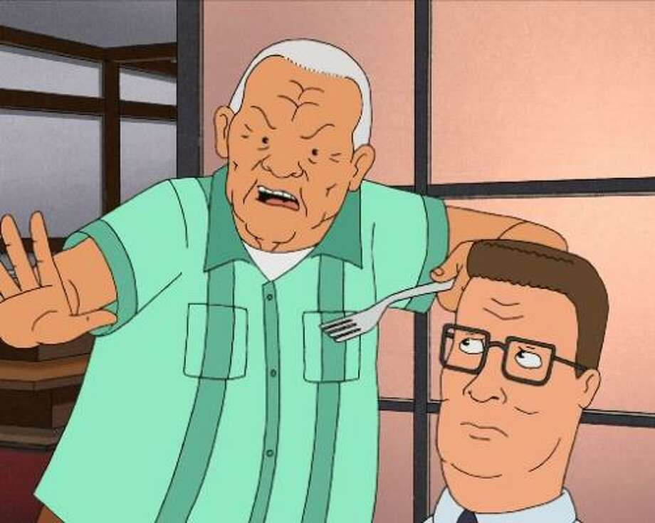 """Can't get enough: """"King of the Hill."""" It's not just because the show is set in Texas, although we think it does have a small impact. The Bobby-Hank-Cotton relationship is priceless. Photo: Fox"""